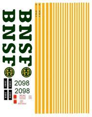 BNSF DIESEL LOCO G-CAL DECAL SET