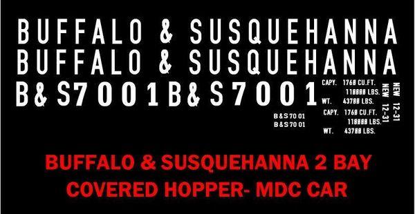 BUFFALO AND SUSQUEHANNA R.R., G-CAL DECAL SET