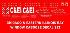 CE&I CABOOSE G-CAL DECAL SET