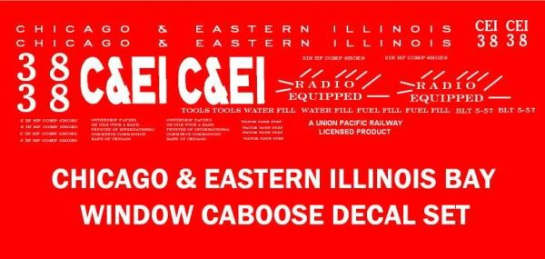 CE&I CABOOSE G-CAL DECAL SET