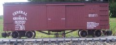 CENTRAL OF GEORGIA WOOD BOXCAR HO DECAL SET