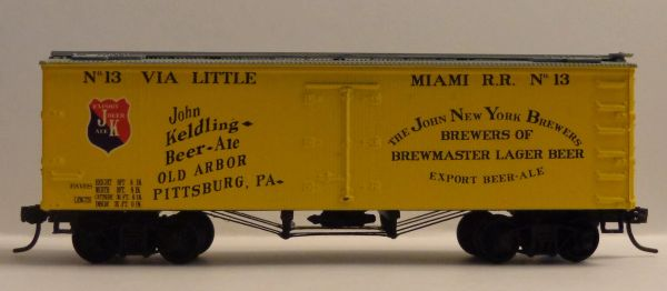 JOHN KELDING BREWMASTER BEER & ALE HO DECAL SET FOR 36 FT WOOD BOXCAR