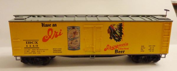 IROQUOIS BEER, BEER CAR HO SCALE DECAL SET- TOMAHAWK ALE