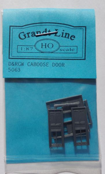 GRANDT 5063 D&RGW CABOOSE TYPE DOORS KIT. HO SCALE.