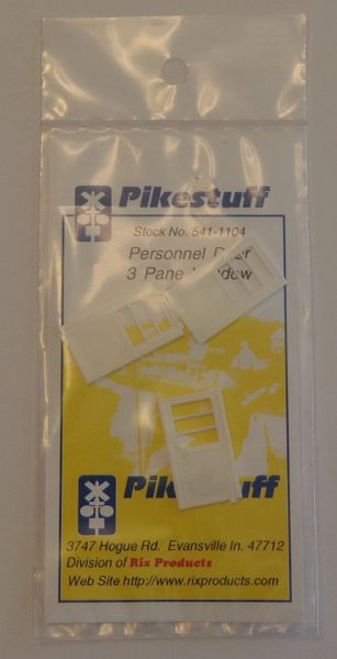 PIKESTUFF 541-1104 ENTRANCE DOORS WITH 3 PANE WINDOWS