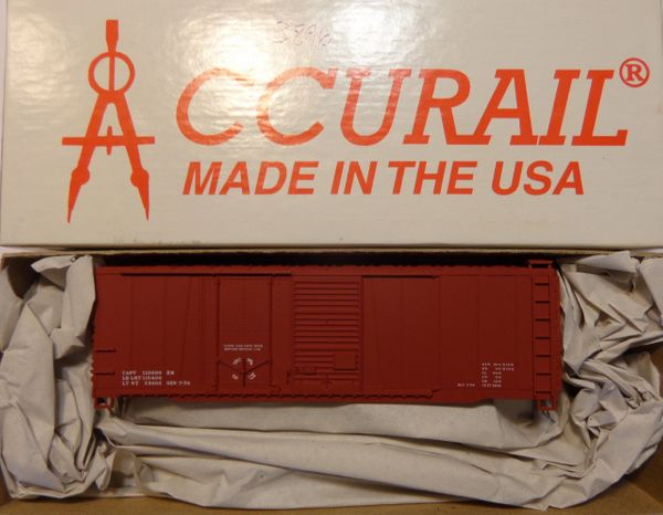 ACCURAIL 3896- 40 FT STEEL BOXCAR COMBO DOOR MINERAL RED, DATA