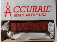 ACCURAIL 7099- 40 FT WOOD 6 PANEL O.B. BOXCAR, BOXCAR RED, DATA