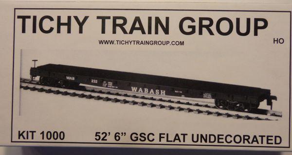 TICHY TRAINS 1000 HO SCALE 53 FT FLATCAR KIT