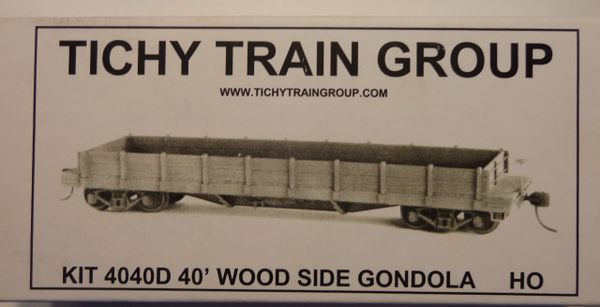 TICHY 4040D HO SCALE WOOD GON UNDECORATED KIT
