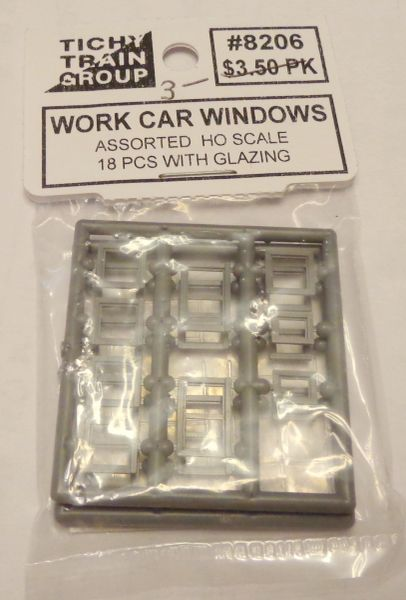 8206 TICHY WORK CAR WINDOW HO SCALE