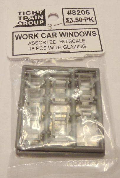 8206 TICHY WORK CAR WINDOW HO SCALE