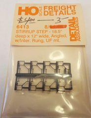 DETAIL ASSOCIATES 6413 STEP STIRRUP PARTS FOR FREIGHT CARS