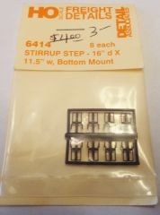 DETAIL ASSOCIATES 6414 STEP STIRRUP PARTS FOR FREIGHT CARS