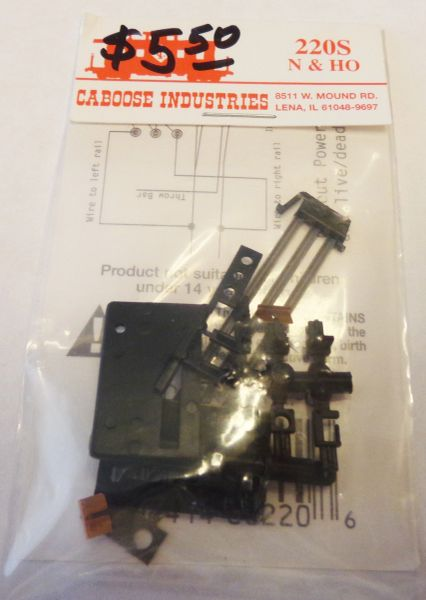 CABOOSE INDUSTRIES 220S HO-N SCALE GROUND THROWS FOR RAIL SWITCHES.
