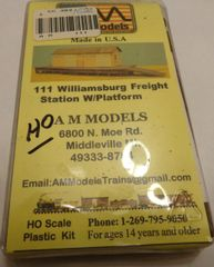 A&M MODELS #111 WILLIAMSBURG FREIGHT STATION KIT HO SCALE- N.O.S.