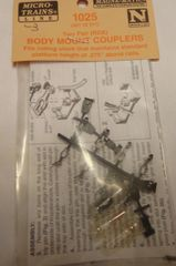 MICRO TRAINS #1025 BODY MOUNT COUPLERS. N SCALE