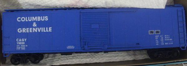 COLUMBUS & GREENVILLE 50 FT BOXCAR HO DECAL SET.