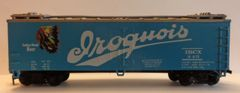 IRIQUOIS BEER-SCRIPT, 40 FT REEFER CAR HO DECAL SET. RETURN TO IROQUOIS BREWERY, BUFFALO, NY