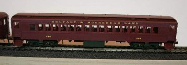 BELFAST AND MOOSEHEAD LAKE PASSENGER CAR SET HO SCALE
