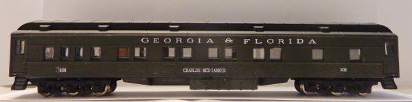 GEORGIA AND FLORIDA R.R. H.W. PASSENGER CAR HO DECAL SET.