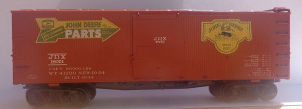 JOHN DEERE PARTS STEAM ERA BILL BOARD WOOD BOXCAR HO SCALE DECAL SET.