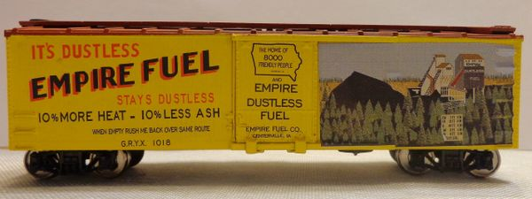 EMPIRE COAL COMPANY COAL WOOD BOXCAR HO SCALE DECAL SET