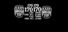 EAST BROAD TOP RR WOOD BOXCAR G-CAL DECAL SET