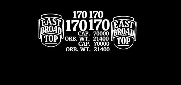 EAST BROAD TOP RR WOOD BOXCAR G-CAL DECAL SET