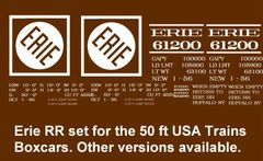 ERIE RR 50 FT BOXCAR G-CAL DECAL SET.