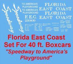 "FLORIDA EAST COAST ""PLAYGROUND"" G-CAL DECAL SET"