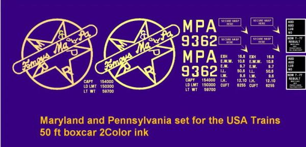 MA AND PA 2ND SERIES BOXCAR G-CAL DECAL SET
