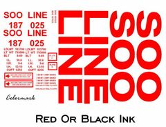 SOO LINE 50 FT STEEL BOXCAR G-CAL DECAL SET