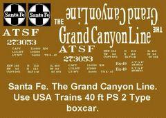 SANTA FE GRAND CANYON LOGO BX-49 G-CAL DECAL SET