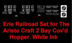 ERIE RR G-CAL DECAL SET FOR ARISTO CRAP 2 BAY COVERED HOPPER