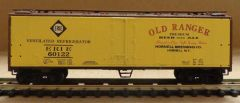 ERIE R.R. OLD RANGER BEER WOOD REEFER CAR