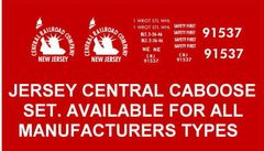 JERSEY CENTRAL RR CABOOSE G-CAL DECAL SET