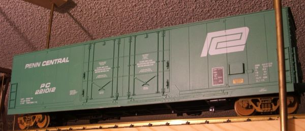 PENN CENTRAL ARISTO EVANS 53 FT DPD STEEL BOXCAR G-CAL DECAL SET