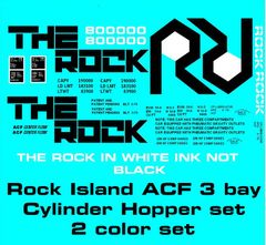 ROCK ISLAND 3 BAY CYLINDER HOPPER G-CAL DECAL SET.