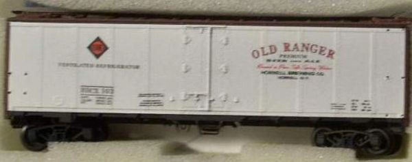 ERIE -OLD RANGER WHITE BEER REEFER CAR HO DECAL SET