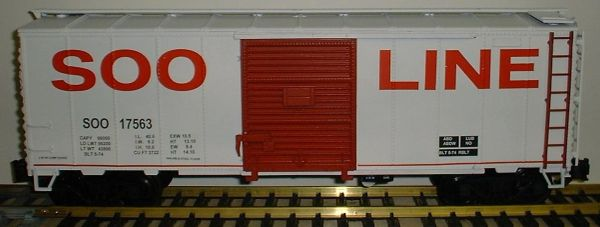 SOO LINE RED LETTERED 40 FT BOXCAR G-CAL DECAL SET