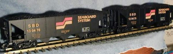 SEABOARD SYSTEM 3 BAY OPEN HOPPER G-CAL DECAL SET FOR 3 BACHMAN, ARISTOCRAFT, OTHERS HOPPER