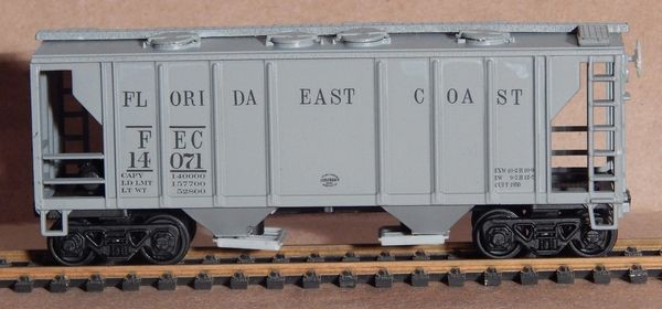 FLORIDA EAST COAST R.R. 2 BAY PS 2 HOPPER HO DECAL SET.