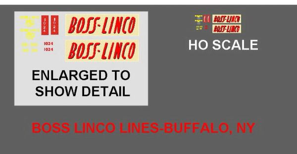 TRACTOR TRAILER HO SCALE DECAL SET BOSS- LINCO LINES