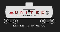 UNITED REFINING TANK CAR HO SCALE DECAL SET.