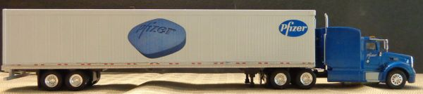 PFIZER TRAILER-TRACTOR HO SCALE DECAL SET- THE LITTLE BLUE PILL!