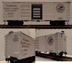 FEC WOOD VENTILATED 36 FT. BOXCAR MRC ORIGINAL ARTWORK. HO DECAL SET
