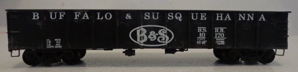 BUFFALO & SUSQUEHANNA HO SCALE 41 FT GONDOLA DECAL SET.
