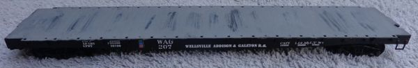 WELLSVILLE, ADDISON AND GALETON RR 53 FT FLAT CAR.