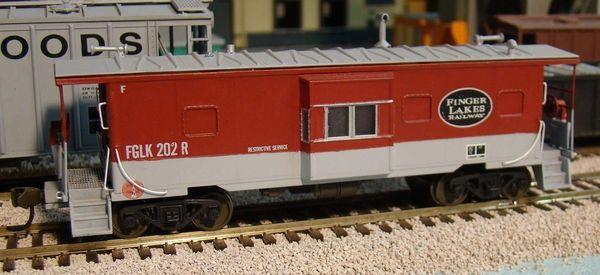 FGLK RAILWAY BAY WINDOW CABOOSE HO DECAL SET.