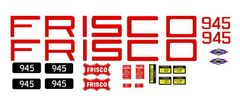 FRISCO GP- SD DIESEL LOCOMOTIVE G-CAL DECAL SET